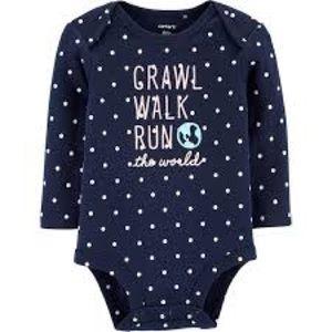 NWT Carter's Crawl Walk Run The World Bodysuit